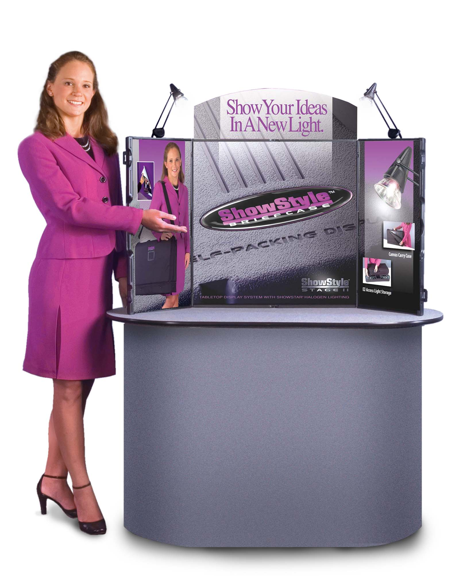 Briefcase Portable Table Top Displays